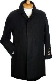 Hidden button Mens Wool