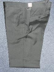 BLACK 100% WOOL SUPER 140S Solid ~ plain FRONT PANTS - Cheap