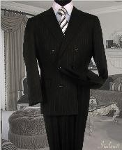 Suit With Smooth Stripe ~ Pinstripe Full Canvanced Poly~Rayon Wool Feel