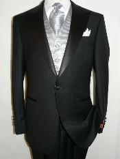 Best  Designer One Button Black Tuxedo Suit For Men 100% wool super 140s suit