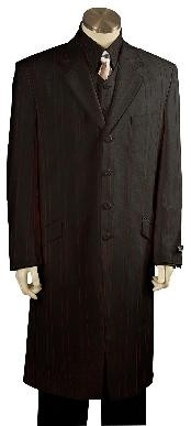 Solid Black Exclusive Fashion Zoot Suit Black