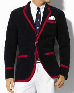 Sport Coat Jacket Two Toned Classic Velvet Black Blazer w