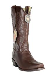 7 Toe Los Altos Genuine Premium Leather Dark Brown Cowboy Handmade