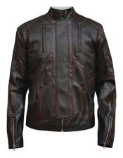 Bucky Barnes Dark Brown Zipper Cuffs Jacket