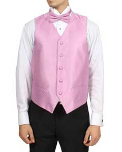 Dark Pink 4-Piece Vest Set Also available in Big and Tall