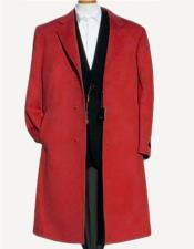 Alberto Nardoni Dark Red Soft Finest Grade Of  Wool Overcoat