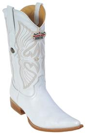 Leather White Los Altos Mens Cowboy Boot ~ botines para hombre