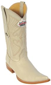 Cream ~ Ivory ~ Off White Los Altos Mens Western Boot ~ botines para hombre Cowboy Fashion