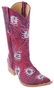 Burgundy ~ Maroon ~ Wine Color Handmade Los Altos Fabric Men Cowboy Fashion Western Style Boot ~