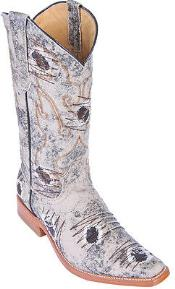 Oryx Beige Denim Fabric Men Los Altos COWBOY Fashion Western Boots Riding Classy