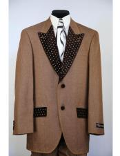 rhinestone peak lapel denim 2pc rust zoot fashion entertainment suit