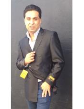 Nardoni Brand Mens Black Double Breasted blazer ~ sport coat jacket(Wholesale Price) Advanced Pre Order To Ship