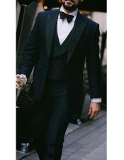 nardoni Peak lapel super 150s wool tuxedo with double breasted vest