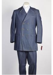 Breasted Blue Suit with