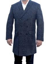 Mens Mantoni Charcoal Grey Gray ~ Grey Plaid ~ Window Pane Overcoat ~ Topcoat Wool