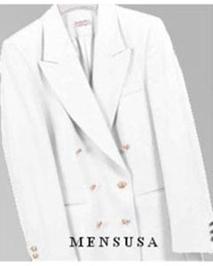 PFF101 Z762TA White Six Button Double Breasted Performance Blazer Jacket Coat