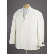 New Mens Double Breasted Suit Cream Dress Suit