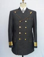 ~ Jean Suit with brass buttons