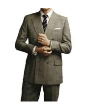 Colin Firth Kingsman Double Breasted Grey Peak Lapel Button Closure Suit