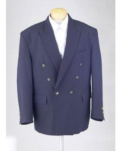 Mens Navy Blue Double Breasted Dinner Cheap Unique Dress Blazer For