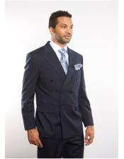 Navy Blue Peak Lapel