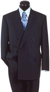 Navy Blue Suit For Men Super Wool Feel Poly-Rayon developed by NASA