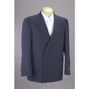 New Mens Double Breasted Suit Dark Navy Blue Suit For Men Dress