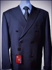 breasted peak lapel wool