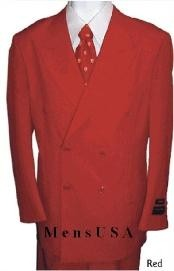 Piece MENS SHARP Double Breasted DRESS SUIT Red Suits