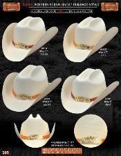Tejana Durango Style Western Cowboy Straw Hat
