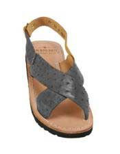 Mens Blue-Jean Exotic Skin Sandals in ostrich or World Best Alligator ~ Gator Skin or Stingray skin