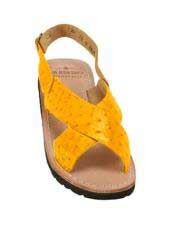 Mens Exotic Skin Buttercup Sandals in ostrich or World Best Alligator ~ Gator Skin or Stingray skin