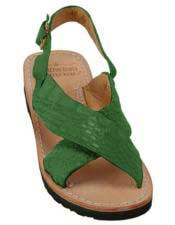 Mens Exotic Skin Forest Sandals in ostrich or World Best Alligator ~ Gator Skin or Stingray skin
