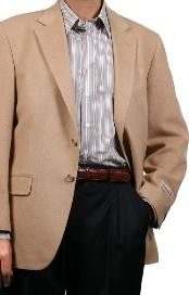 Mens Sport Coat Camel