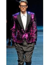 Mens Classic Hot Pink ~ Fuchsia Long Fashion Zoot Suit (Wholesale Price