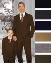 Men + 1 Boy Matching Set For Both Father And Son 2 For $278 Suit Dark Brown