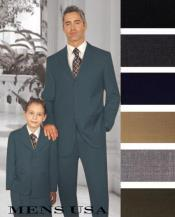 Men + 1 Boy Matching Set For Both Father And Son 2 For $278 Suit Dark Grey