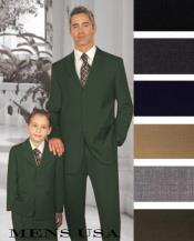 Men + 1 Boy Matching Set For Both Father And Son 2 For $278 Suit Charcoal Grey