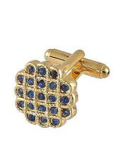 0023G  Mens Ferrecci Favor Blue Cuff Links 3Pcs Set With
