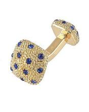 0030G Mens Ferrecci Favor Blue Cuff Links 3Pcs Set With Fancy