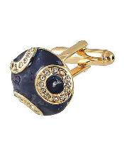 0034G Mens Ferrecci Favor Blue Cuff Links 3Pcs Set With Fancy
