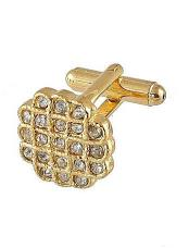 0023G Mens Ferrecci Favor Diamond Cuff Links 3Pcs Set With Fancy