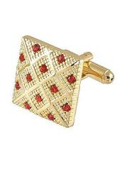 0042G Ferrecci Favor Red Cuff Links 3Pcs Set With Fancy Gift