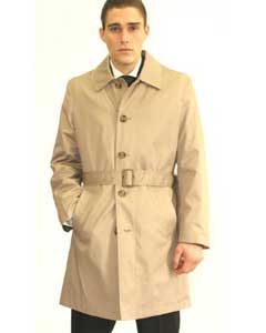 Cream Belted Trench Coat