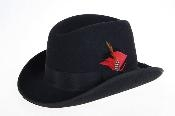 Black Wool Felt Fedora