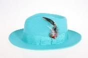 Blue Wool Felt Fedora