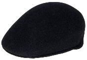 Wool Black Drivers Cap