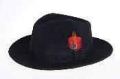 Wool Felt Fedora Black