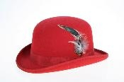 Wool Felt Fedora Red