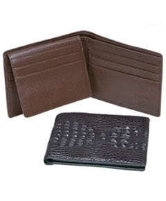 Genuine Exotic Animal Skin Ferrini Genuine Hornback Crocodile Card Holder Wallet